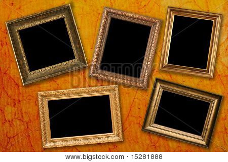 Antique frames, add your own text or photos.