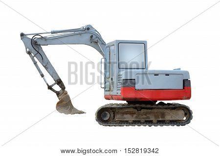 image of excavator isolated on white background