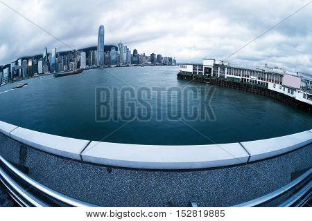 China Hong Kong Victoria Harbor Cruises and Skyline.