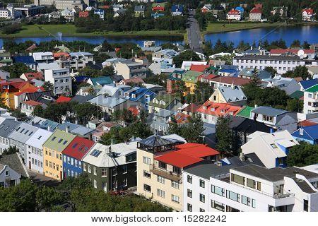 Downtown Reykjavik, Iceland.
