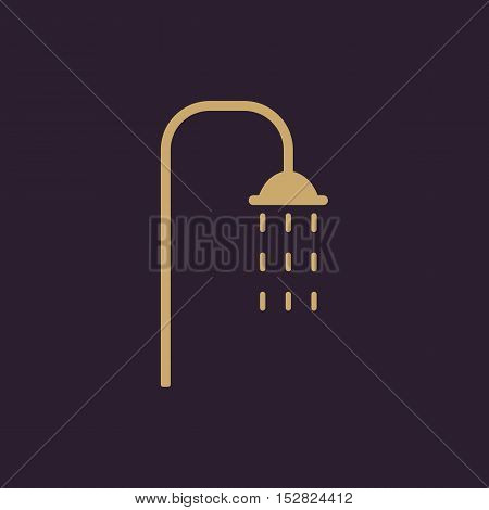 The shower icon. Bathroom symbol. Flat Vector illustration