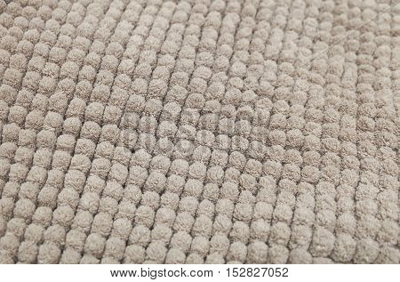 Fabric Texture Close Up of Brown Plush Fabric Texture Pattern Background.