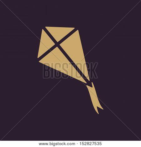 The kite icon. Kite symbol. Flat Vector illustration