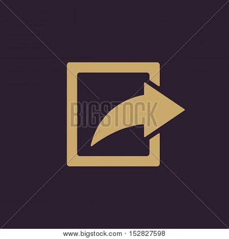 The share icon. Action symbol. Flat Vector illustration