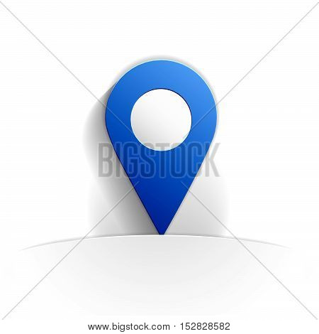 location icon in paper style full vector