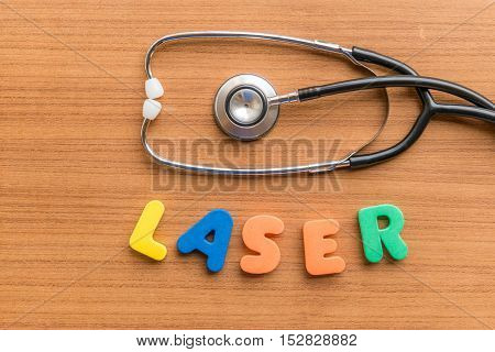 Laser Colorful Word