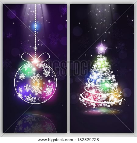 Abstract Winter Holiday Banners