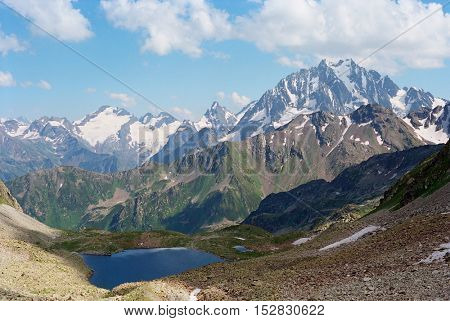 majestic mountain landscape, take it in Caucasus