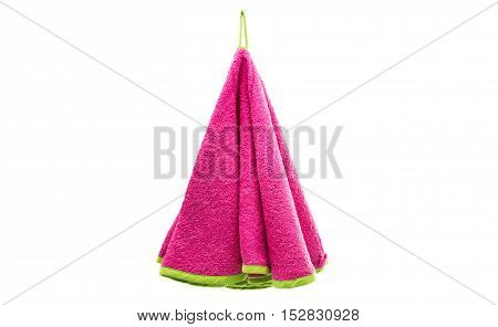 colored towels vintage design on the white background