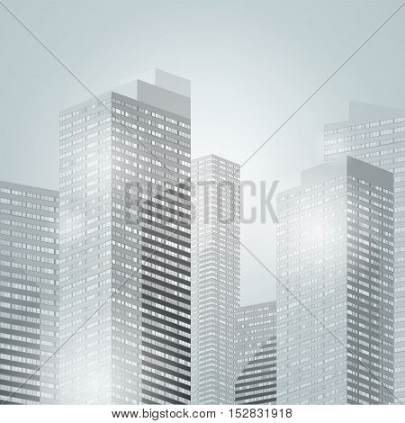 Downtown Skyscrapers City Background