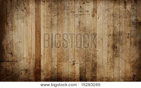 Weathered cedar background panel.