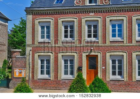 Buchy France - june 23 2016 : the city center