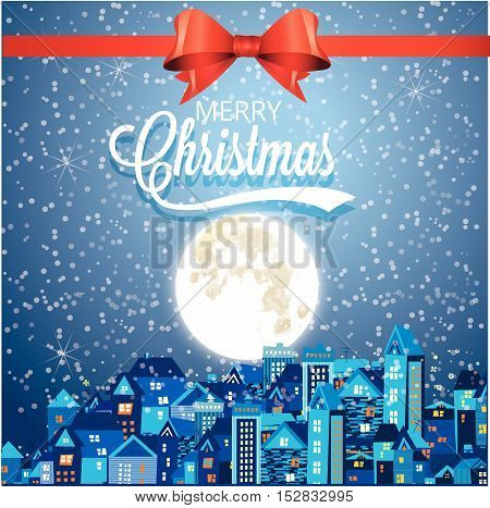 Vector illustration of Christmas and new year decorated Christmas trees and santa