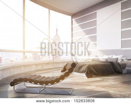 Sunlit New York City Master Bedroom In Modern Flat