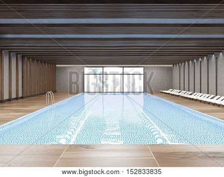 Public Pool With Large Window