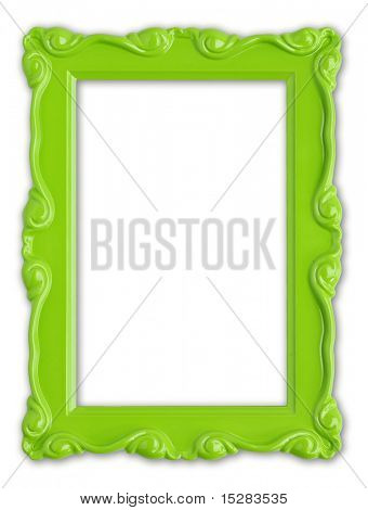 Pretty green picture frame.
