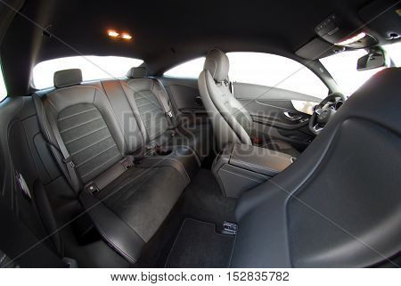 black rear seat in modern sport coupe
