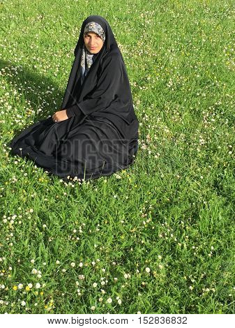 Arabic Muslim young beautiful woman