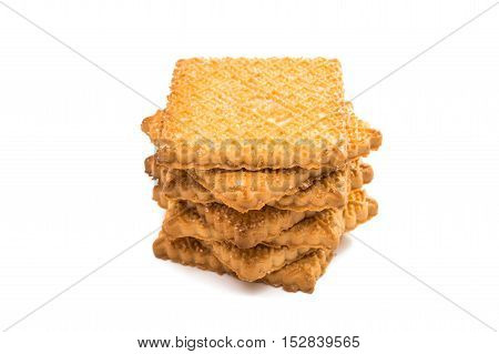 bakery, cake biscuits on a white background