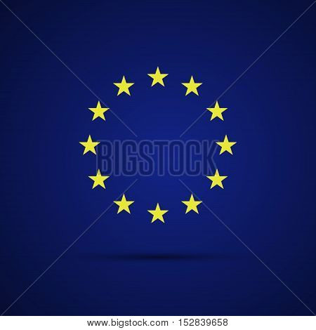 Circular stars of the European Union on blue background vector illustration