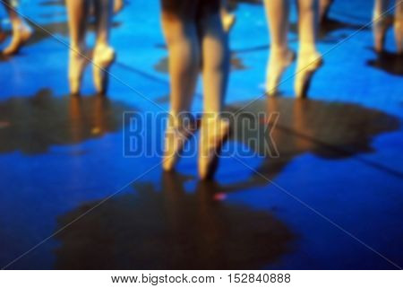 blurred background of dance ballet in performent