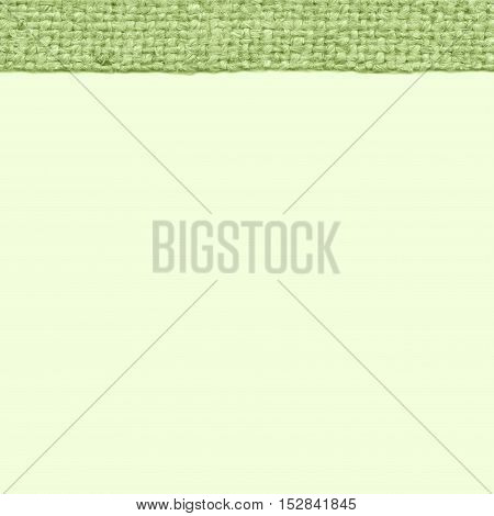 Textile frame, fabric string, emerald canvas, styled material old-fashioned background