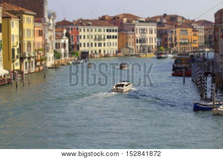 famous grand canale from Rialto Bridge Venice Italy