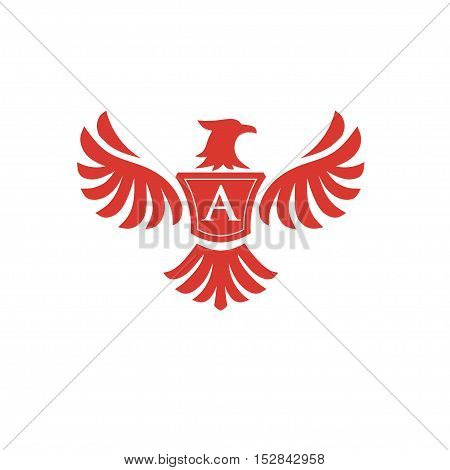 elegant phoenix with letter A consulting logo concept,  eagle with letter A logo concept