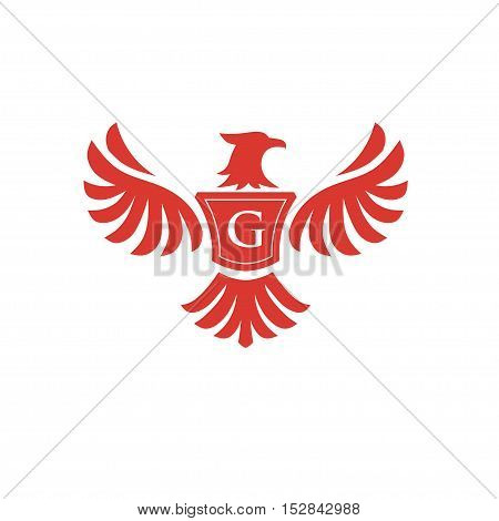 elegant phoenix with letter G consulting logo concept,  eagle with letter G logo concept