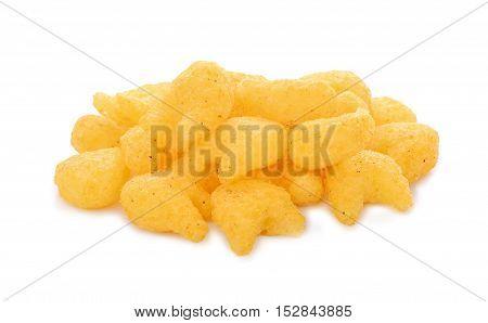 crispy cracker isolated on the white background