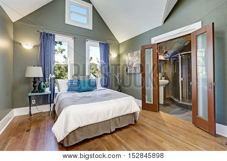High Vaulted Ceiling Bedroom Interior Design