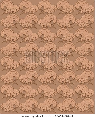 Vector printing on fabric clothes. hand painted ethnic floral mandala pattern leaves circles swirls. Seamless abstract flowers. decorative elements for design. EPS 10