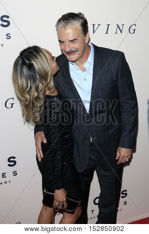 LOS ANGELES - OCT 20:  Tara Wilson, Chris Noth at the