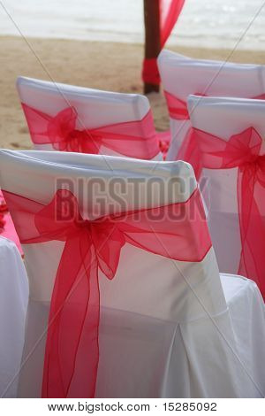 Tropical beach wedding closeup