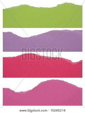 Torn paper strip borders.