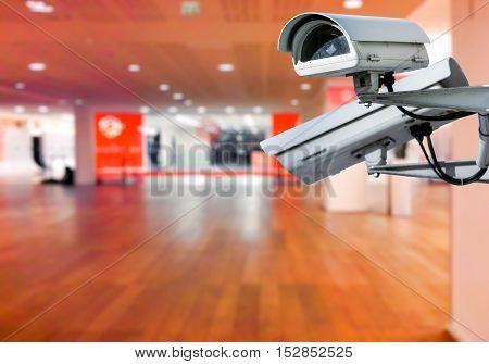 Cctv Camera Surveillance Shopping Center