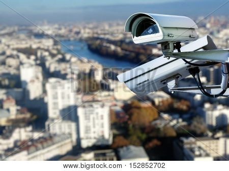 Cctv Surveillance System Paris Roof