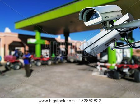 Cctv Camera Surveillance In Service Station