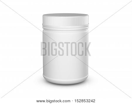 Whey Protein Container 3D Illustration