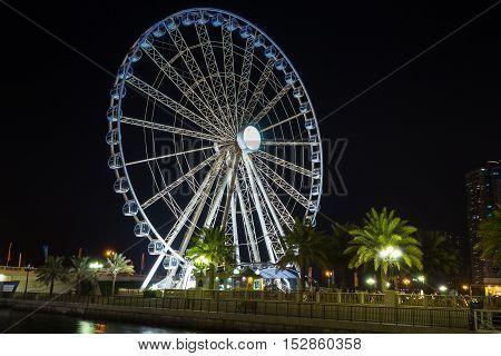 Ferris Wheel In Al Qasba - Shajah