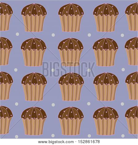 Seamless pattern with cake and circle for banner card invitation textile fabric wrapping paper.