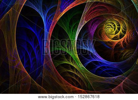 abstract fractal background a computer-generated 2D illustration texture spiral