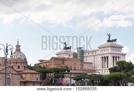 Altare della patria il vittoriano in Rome, Italy