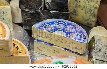 Lot Of Cheese At Chees Store. Israel
