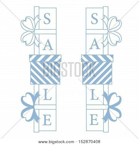 Collection Of Presents And Gift Boxes With Text Sale.