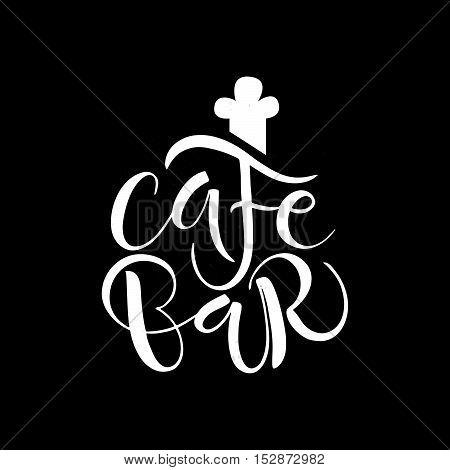 Cafe, Bar, Restaurant, Lounge Logotype Vector Illustration