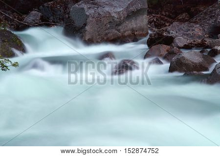 River Rapids And Stones
