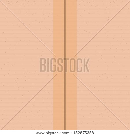 illustration of realistic carton with tape square seamless background