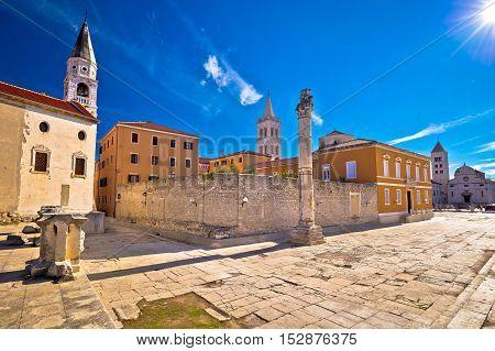 Ancient landmarks of Zadar view Dalmatia Croatia