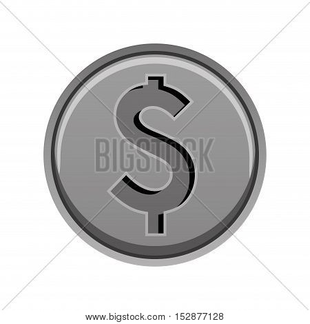 money coins over white background. economy and financial item. vector illustration